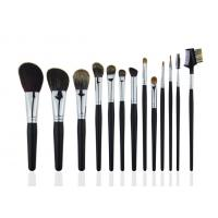 Buy cheap Black Professional Makeup Brush Set With Wooden Handle Face / Cheek Eyebrow from Wholesalers