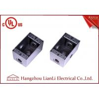 """Cheap 1/2"""" 3/4"""" Two Gang Electrical Box Waterproof Terminal Box Powder Coated , UL Listed for sale"""