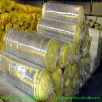 Cheap Hot sales 10kg/m3 50mm glass wool blanket with Aluminium foil for sale