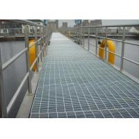Black / Silver Galvanized Metal Grating For Construction Welded Steel Material