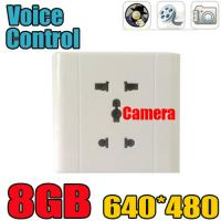 Cheap Home Security Wall Socket Outlet DVR Spy Hidden Camera Surveillance Audio Video Recorder for sale