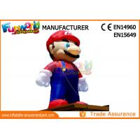 Cheap PVC coated Nylon 3-8m inflatable mario model inflatable cartoon characters for sale
