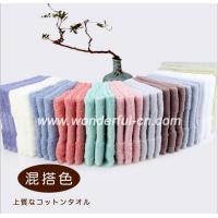 Cheap Best quality AZO free cotton terry dobby small red wholesale hand towels for sale