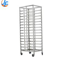 Cheap 16 Storey Bakery Tray Trolley , Stainless Steel Baking Rack Baking Tray Rack Trolley for sale