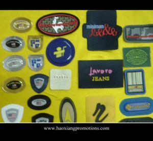 Cheap Promotional 3D rubber label patch/soft pvc clothing logo badge for sale