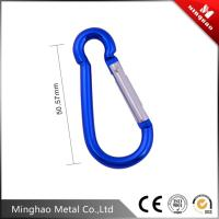 China Durable carabiner snap hook for climb accessories,50.57mm,blue,silver,black color on sale