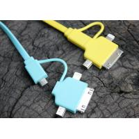 Cheap TPE Colorful HTC Micro USB Cable with Data Transfer for Iphone / Sumsung / MP4 for sale