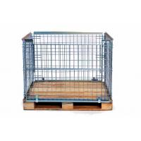 Cheap Wire mesh stacking frames / cage pallet for wooden pallet for sale