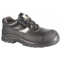 China Black Anti Slip PPE Safety Shoes Water Proof Oil Proof With Steel Toe Cap on sale