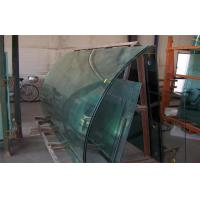 Cheap Solid 15mm Curved Safety Glass CE CCC , Tinted Float Glass for sale