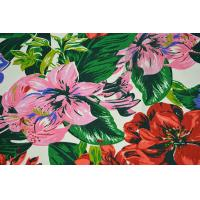 Cheap Natural Cotton Fabric / 16OZ Cotton Canvas With Nice Flower Printing wholesale