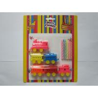 Cheap 6 Pcs Colour Mixture Multi Colored Candles Add 6pcs Train Shaped Toy Party Candles for sale