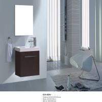 China 40cm Wide Pvc Bathroom Vanity With Sink Wall Mounted Modern Style on sale