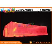 Cheap Large Outdoor LED Inflatable Cube Tent for Wedding / Camping for sale