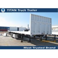 Cheap Detachable 40 foot Flatbed Semi Trailer with 3 axles 3 * 15 tons 12 pcs Contact lock for sale