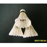 Cheap Grade Three of Goose Feather Shuttlecock for sale