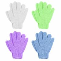 Cheap Double Sided Exfoliating Gloves Body Scrubber Scrubbing Glove Bath Mitts Scrubs for Shower for sale