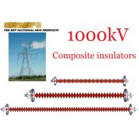 Cheap 1000kV AC Overhead Line Insulators , Suspension Type Composite Polymer Insulator wholesale