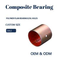 Cheap Steel Bronze Red Polymer Plain Bearings Split Bushes Tin / Copper Made To Order for sale