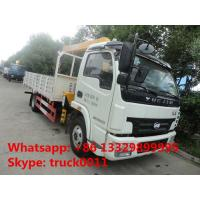 high quality and competitive price 4*2 3.5ton telescopic truck mounted crane for sale,  yuejin 3.5tons truck with crane