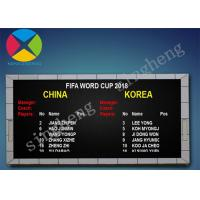 Cheap Pixel Pitch 10mm Led Electronic Scoreboard 100000 Hours Long Life Span for sale
