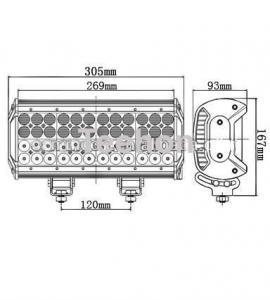 Cheap 144 Watt 12 Inch Quad-Row LED Light Bar for 4WD Vehicles for sale