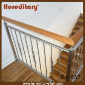 Cheap Decorative Vertical Stainless Steel Bar Balustrade Design (SJ-637) for sale