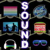 Cheap Musical Sound Sensitive El T-shirt / Led T-s for sale