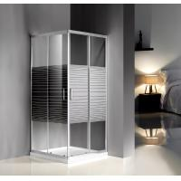 Cheap Grey Silk Painted Glass Shower Enclosures 900 X 900 For Model Rooms / Supermarket for sale