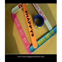 Cheap Debossed Silicone Slap Band Wide Slap Bracelet & Silicone slap wristband Wholesale for sale