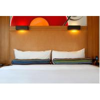 Cheap HPL Laminate plywood hotel furniture liquidators Guest rooms Wood Headboards with Wall panels for sale