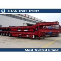Cheap Removable Low Bed Trailer For Heavy Transports , detachable gooseneck trailers for sale