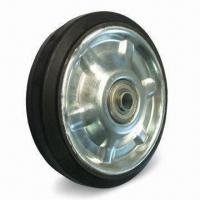Cheap Heavy-duty Caster Wheel/Elastic Rubber Wheel with 75 to 80 Shore A Hardness for sale