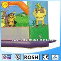 Cheap Fashion Air Tight Inflatable Barrier Cartoon Shrek Inflatable Obstacle Course For Kids for sale