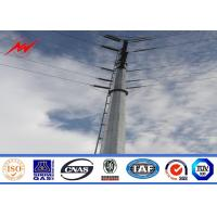 Cheap 132KV hot galvanization electrical power pole for electrical line for sale