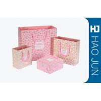 Cheap Custom Boutique Shopping Bags 100% Recyclable Gift Paper Bags Pink Color for sale