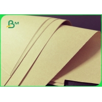 China 70gsm Brown Bamboo Fiber Kraft Wrapping Paper Roll For Envelope Eco Friendly on sale