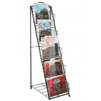 Cheap Simple Design Modern Magazine Display Rack 5 Layers A4 Book Shelf Anti Corrosive for sale