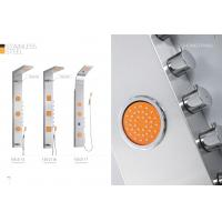 Cheap Professional Stainless Steel Shower Panel With Adjustable Orange Massage Jets for sale