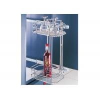 Buy cheap Loadable Pull Out Storage Baskets For Cups / Bottles / Tall Glasses 300 / 700 MM from wholesalers