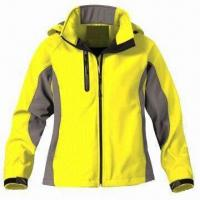 Cheap Women's outdoor jacket with 3-layer soft shell fabric for sale