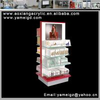 Cheap modularized 5 tier trade show cosmetic wood display stand for sale