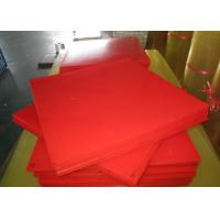 Cheap Bendable Virgin Polyurethane Plastic Sheets For Paper Making , Red PU Sheets for sale