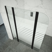 Cheap Square Free Standing Tempered Glass Shower Door for sale