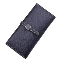 Cheap Women PU Leather Money Clip Wallet Durable Hardware Buckle With Polyester Lining Material for sale