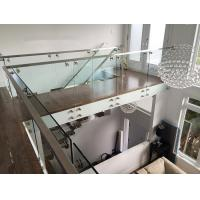 Cheap Glass railing designs with stainless steel standoff  for porch railing for sale