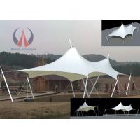 Cable Membrane Patio Shade Structures , Steel Roof Contemporary Shade Structures For Square