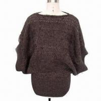 Cheap Ladies' Pullover Sweater, Made of 70% Acrylic and 30% Wool for sale