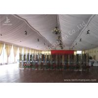 Cheap Transparent Glass Wall Aluminum Profile Wedding Event Tent , White Roof Lining Decoration for sale