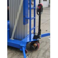 Cheap Electrical Pulling Device Aerial Work Platform Aluminum Type With Lifting Height 14m Quadruple Mast 300Kg wholesale